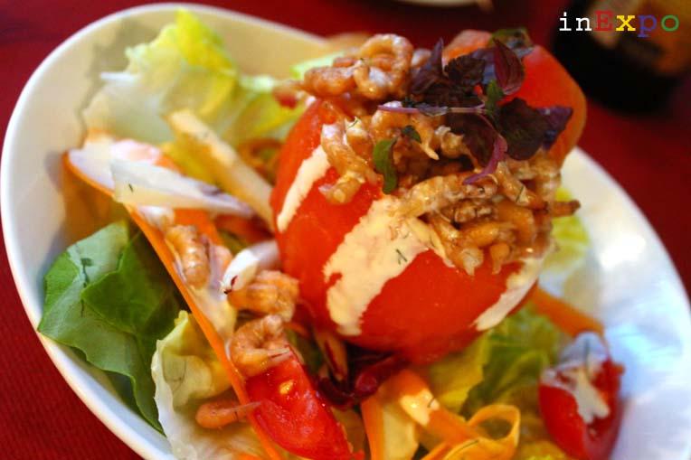 tomate farcie aux crevettes ristorante del Belgio in Expo