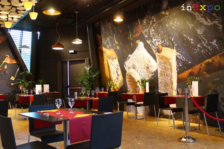 tavoli ristorante del Belgio in Expo