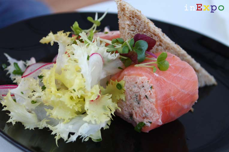 Scottish smoked salmon envelope Ristorante del Regno Unito in Expo