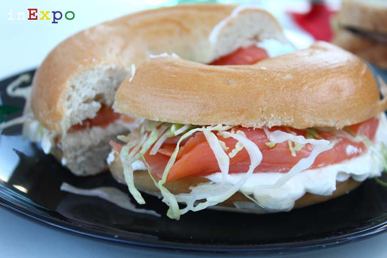 Scottish smoked salmon bagel Ristorante del Regno Unito in Expo