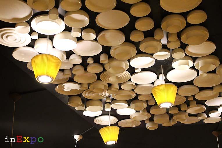 installazione soffitto ristorante del Belgio in Expo