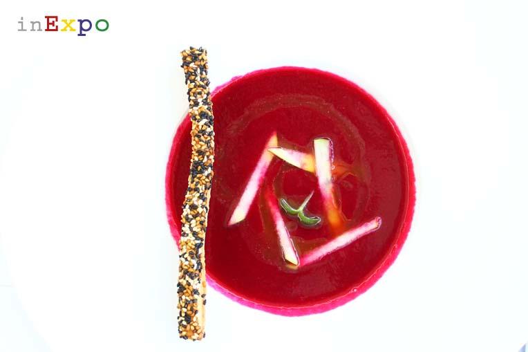 Ristoranti Expo Francia soupe de betteraves rouges