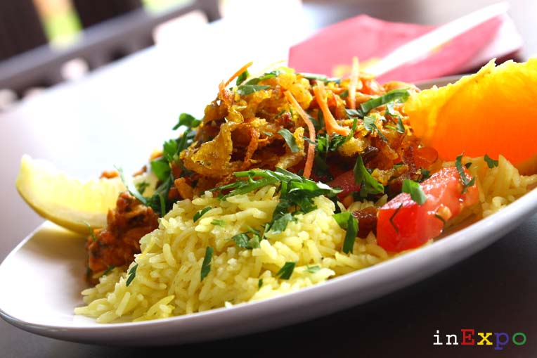 ricetta chicken machboos ristorante del Qatar in Expo