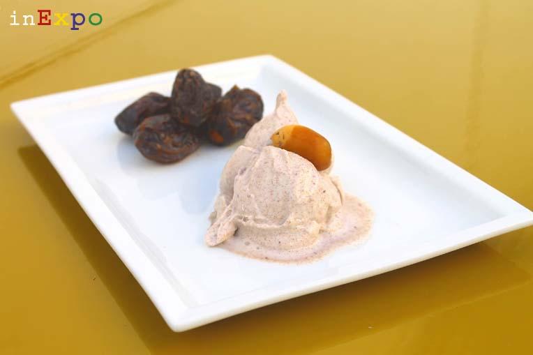 il gelato di Massimo Conti per il padiglione del Bahrain in Expo, gusto datteri