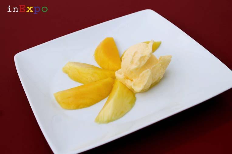 il gelato di Massimo Conti per il padiglione del Bahrain in Expo, gusto mango