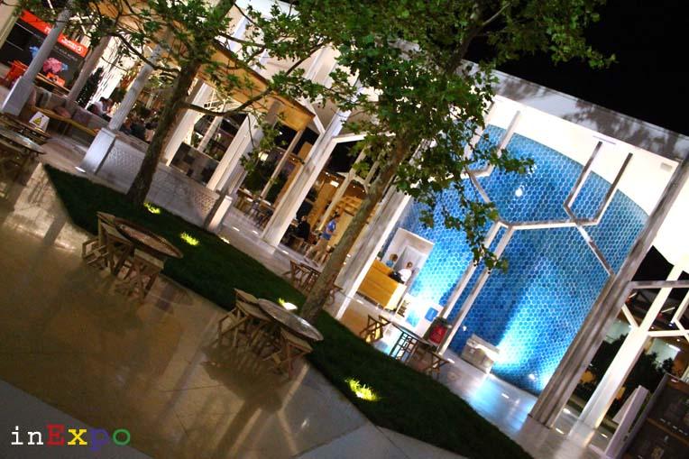 Turchia terrazze ristorante e locali all'aperto in Expo