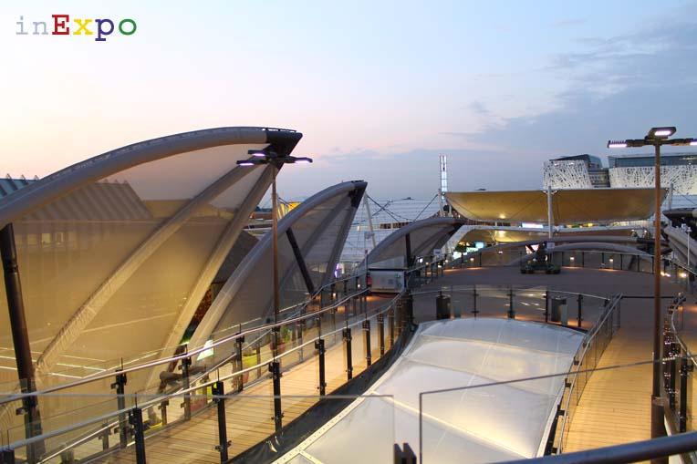 Messico terrazze ristorante e locali all'aperto in Expo