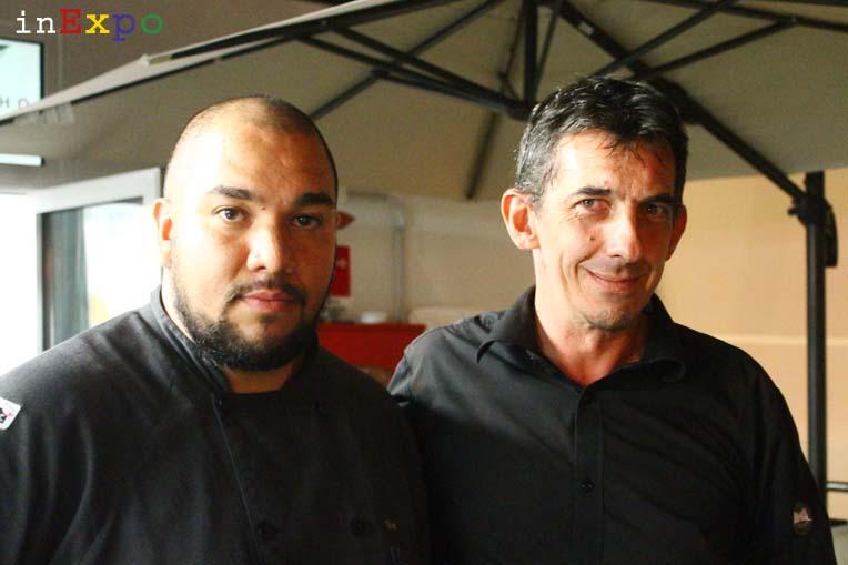 Alejandro Santander e Carlo Bosio ristorante Bésame Mucho in Expo