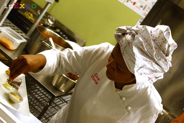 Elsa Viana chef del ristorante angolano in Expo