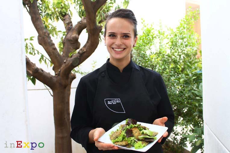 I falafel della chef Erinna Marciano del ristorante del Bahrain in Expo