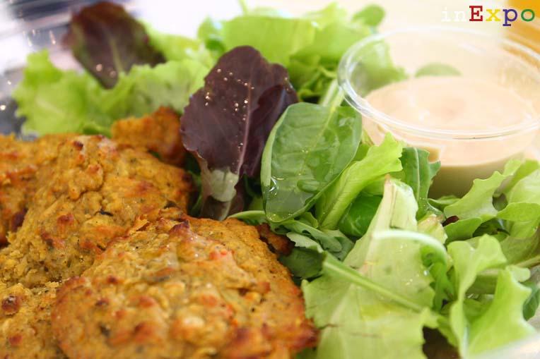 Falafel con salsa tahina del ristorante del Bahrain in Expo
