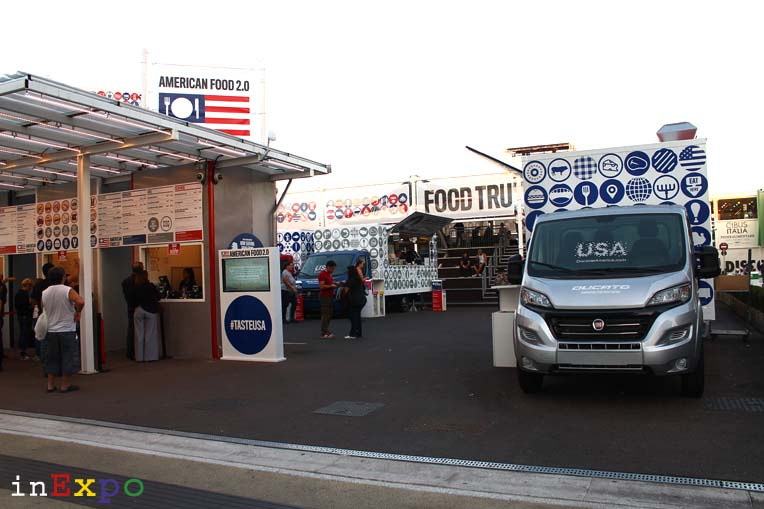 Food Truck Nation USA Pavilion in Expo