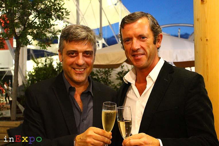 Massimo Sacco e Bradley Mitton organizzatori del Rivini International Wine festival
