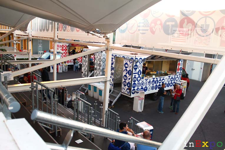 Panoramica Food Truck Nation USA Pavilion in Expo