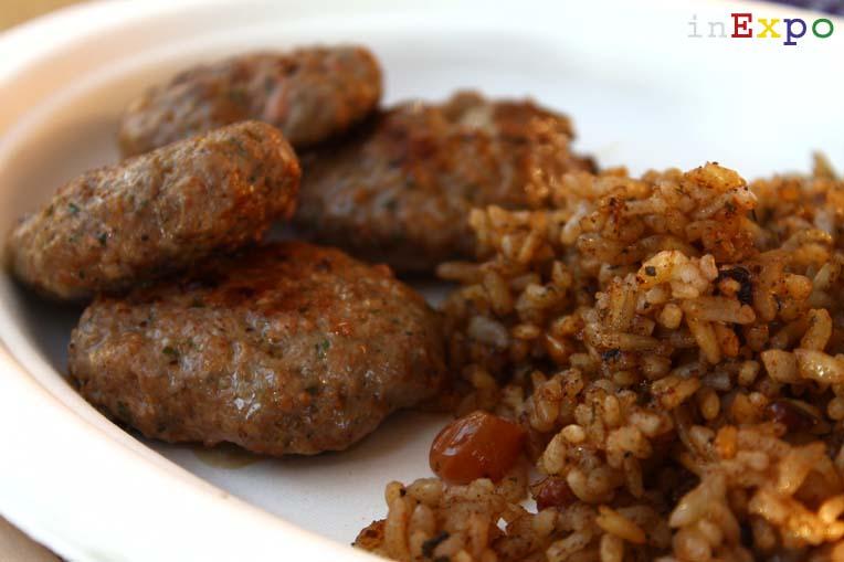 Kofte e riso ottomano ristorante della Turchia in Expo