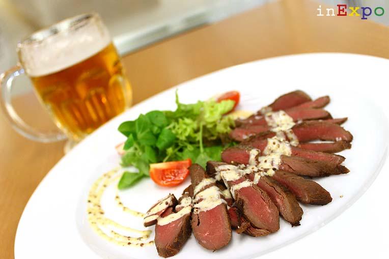 Roast Beef di cervo con salsa di miele e senape ristorante della Repubblica Ceca in Expo