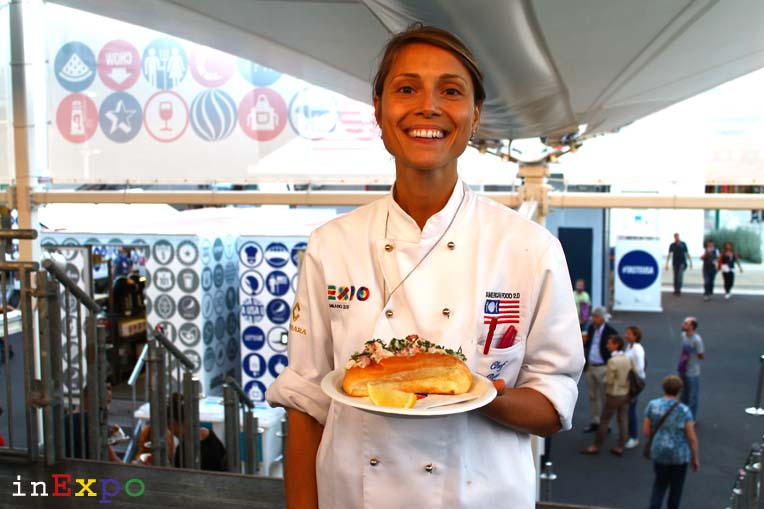 Rose Aluotto Chef Food Truck Nation USA Pavilion in Expo