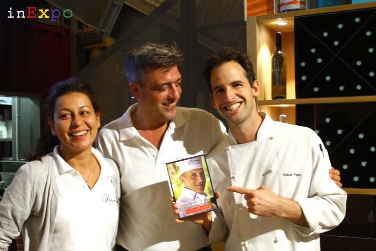 Mariam, Massimo e Klaus di Café Fairmont Monte Carlo in Expo