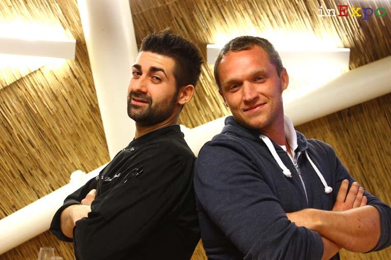 Danilo D'Ambra e Bernd Schwienbacher ristorante della Bielorussia in Expo