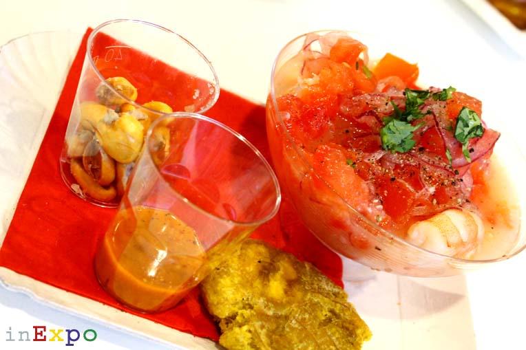 Ceviche de camarón ristorante dell'Ecuador in Expo