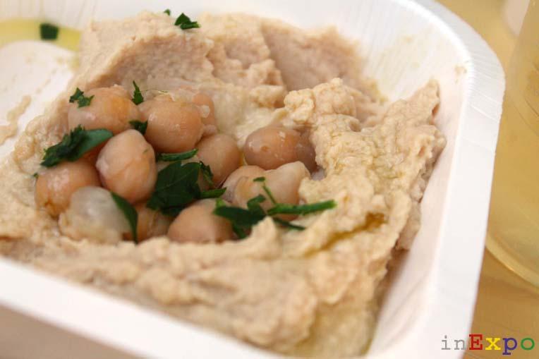 hummus con ceci ristorante israeliano in Expo
