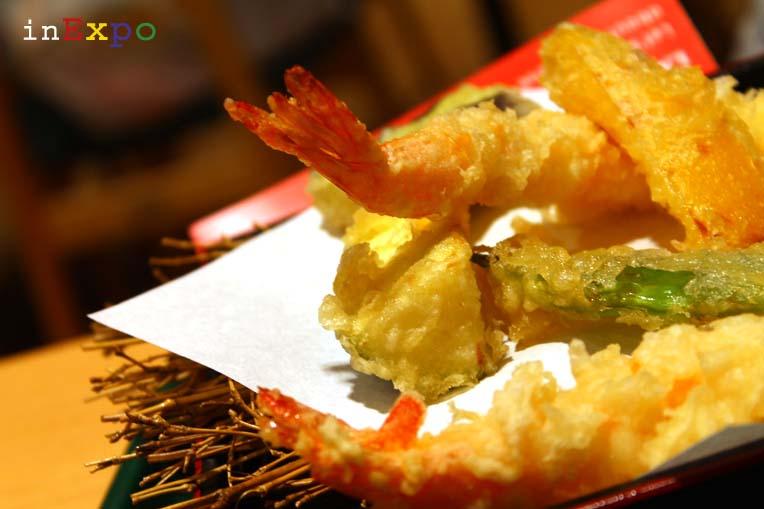 Tempura misto ristorante giapponese in Expo