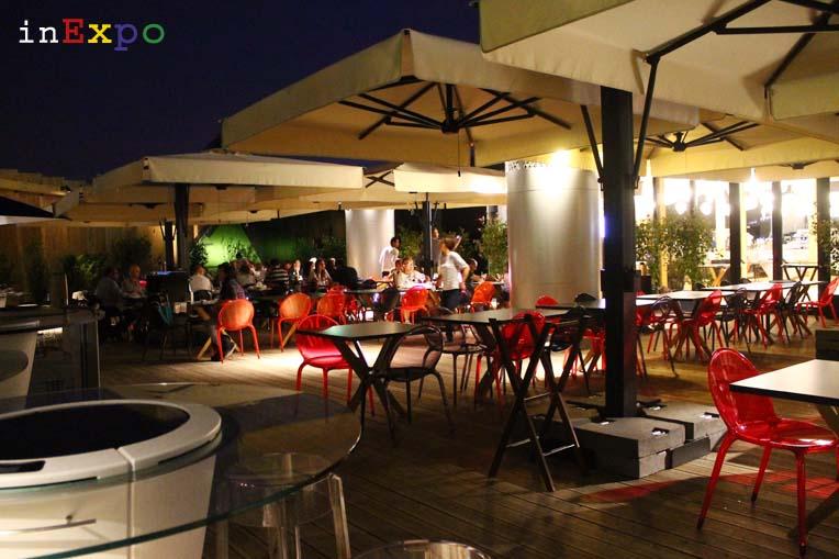 terrazza ristorante francese Café des Chefs in Expo