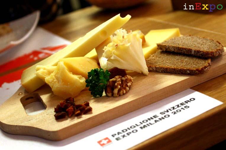 degustazione di formaggi Tour de Suisse ristorante svizzero in Expo