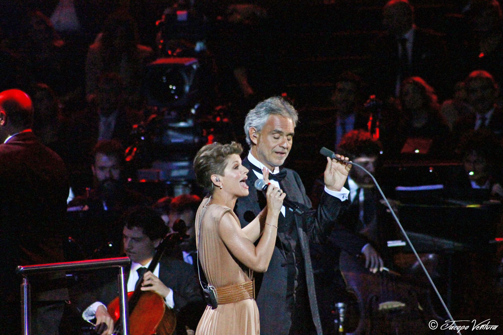 Bocelli and Zanetti night - Andrea Bocelli canta duetta Alessandra Amoroso