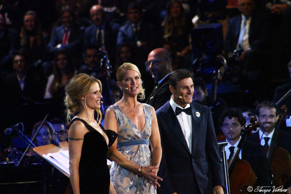 Bocelli and Zanetti night - Valeria Mazza con Michelle Hunziker e Javier Zanetti